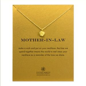 Dogeared Mother-In-Law Rose Necklace, Gold Dipped
